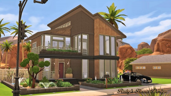 rubys home design modern industrial home - Sims 4 Home Design