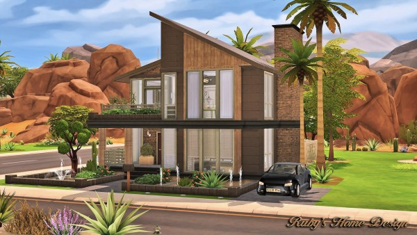 Ruby`S Home Design: Modern Industrial Home • Sims 4 Downloads