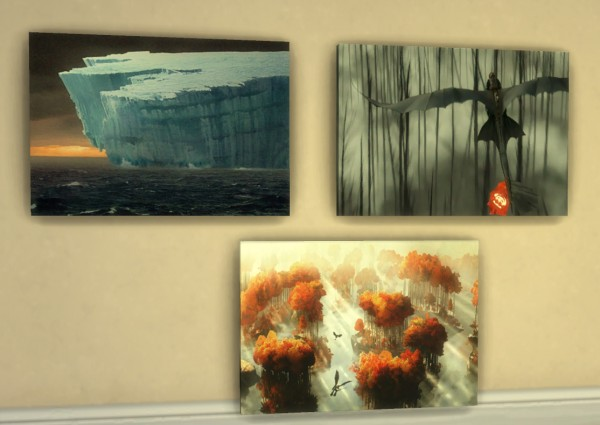 Mod The Sims How To Train Your Dragon Wall Art By