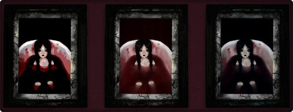 Decay Clown Sims: Blood bath paintings
