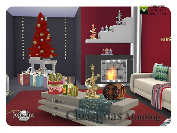 The Sims Resource: Christmas morning living by JomSims