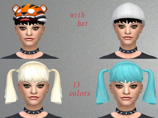 The Sims Resource: Abby pigtails by Neissy