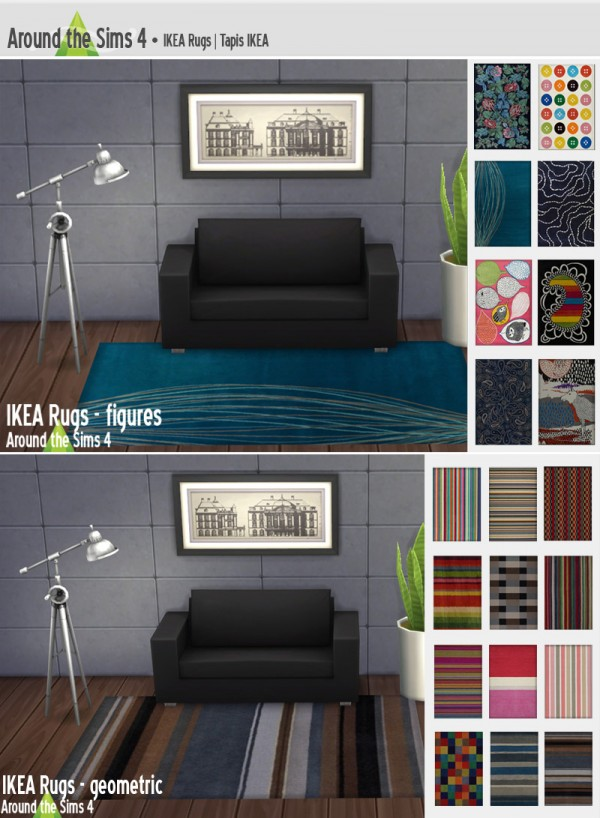 Around The Sims 4: IKEA rugs