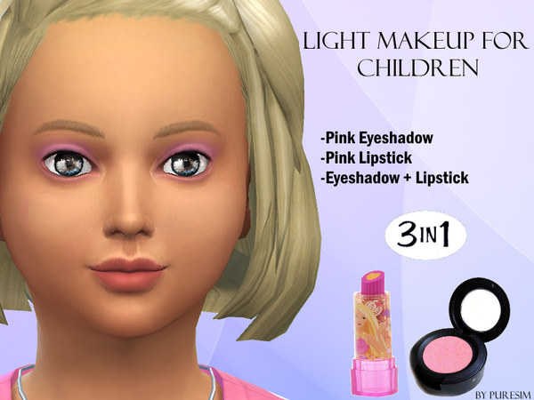 The Sims Resource: Light Makeup For Children by PureSim