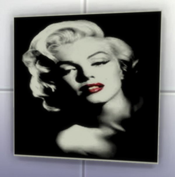 Amberlyn Designs Sims Marilyn Monroe Paintings Sims 4