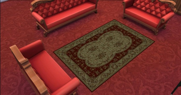Mod The Sims: 6 Traditional Persian Rug by AdonisPluto