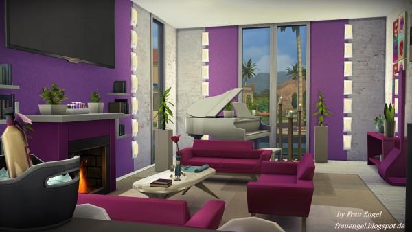 frau engel modern mansion sims 4 downloads. Black Bedroom Furniture Sets. Home Design Ideas