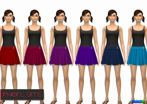 NY Girl Sims: Pleated Skirt with Petticoat
