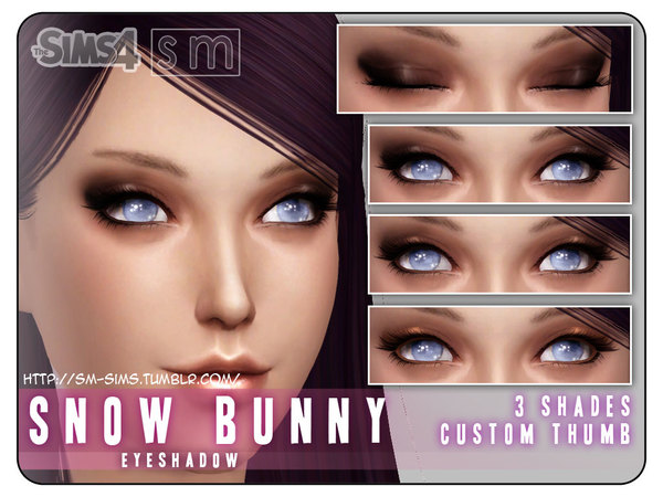 The Sims Resource: Eyeshadow snow bunny by Screaming Mustard