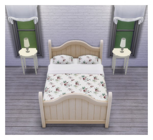 Saudade Sims: 6 Rustic dream beds withm charming IKEA fabric