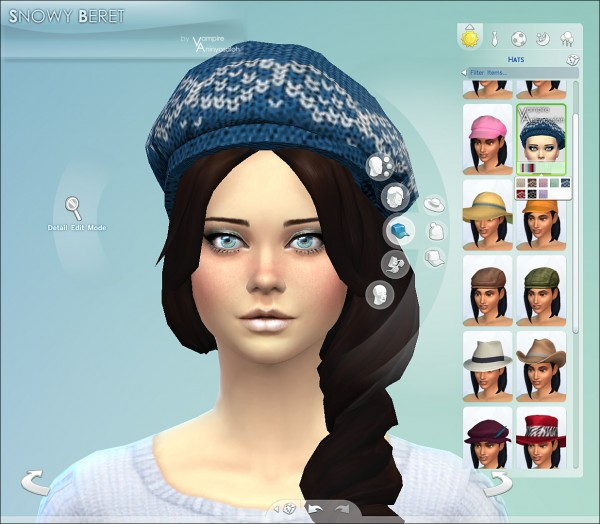 Mod The Sims: Snowy Beret  2 styles / 8 colors by Vampire aninyosaloh