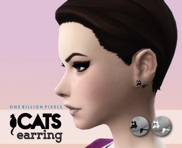 One Billion Pixels: Cats Earring