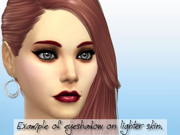 The Sims Resource: Matte Creme Eyeshadow Collection by Fortunecookie1