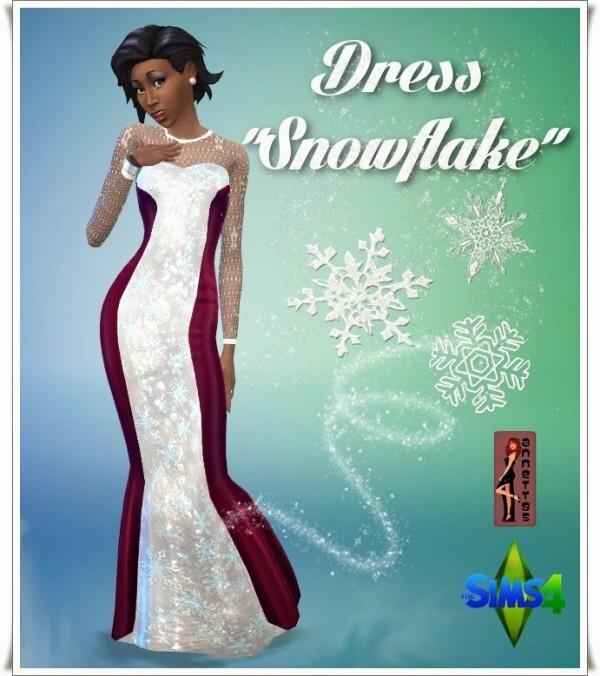 Annett`s Sims 4 Welt: Dress Snowflake