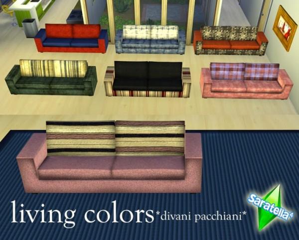 Saratella`s Place: Living colors *divani pacchiani*