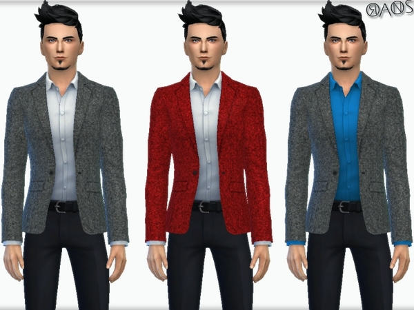 The Sims Resource: Greymane Jacket with Shirt by OranosTR