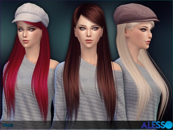 The Sims Resource: Alexis hair by Alesso