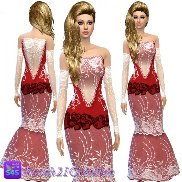 Les contes d helena  V neckline dress. dress Archives   Page 757 of 884   Sims 4 Downloads