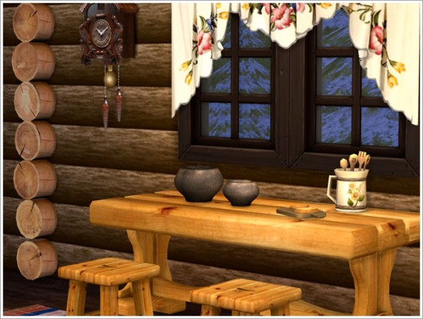 Sims by Severinka: Forest hut set