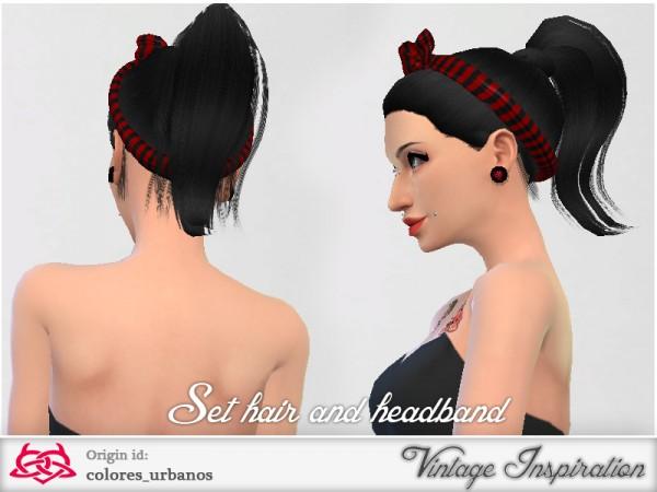 The Sims Resource: Set retro / alternative hair / headband 03 by Colores Urbanos