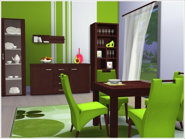 The sims resource lawrence diningroom by severinka sims for Dining room ideas sims 4