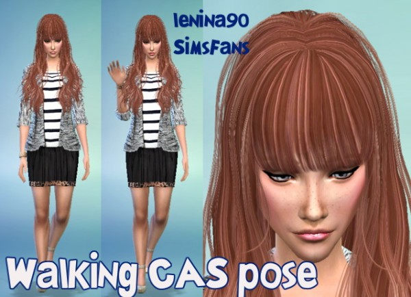 Sims Fans: Walking CAS poses by lenina90