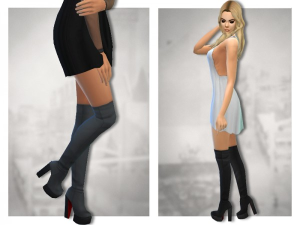 The Sims Resource Payne Boots 2 By Sentate Sims 4 Downloads
