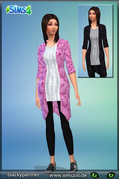 Blackys Sims 4 Zoo: Pink cardigan by blackypanther