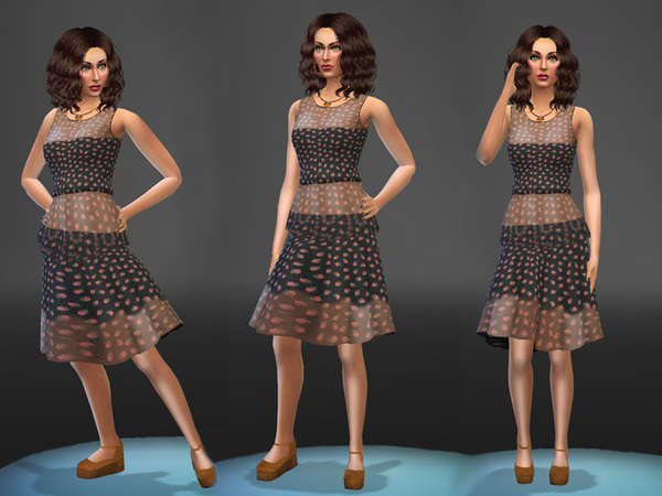 The Sims Resource: Flamenco dress by Simalicious