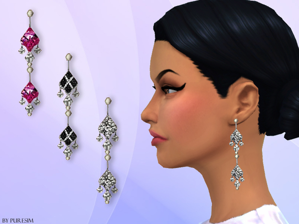 The Sims Resource: Diamond Earrings by Puresim