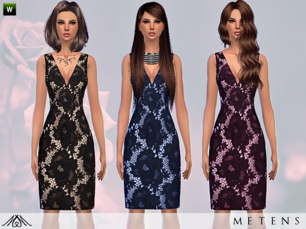 The Sims Resource: Mademoiselle Pretty dress by Metens