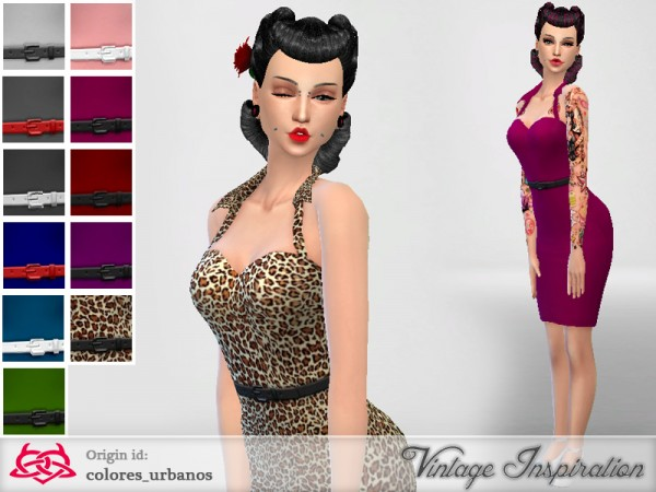 The Sims Resource: Pin Up dress 01by Colores Urbanos
