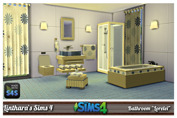 Lintharas sims 4 bathroom lorelei sims 4 downloads for Bathroom ideas sims 4