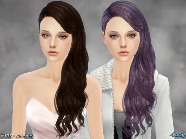 The Sims Resource: Serenity 2 hair by Cazy