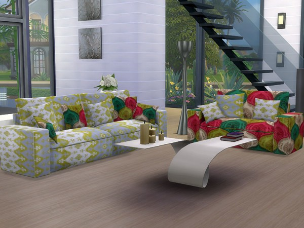 The Sims Resource: Sofa and loveseat Slide Recolors by Pilar