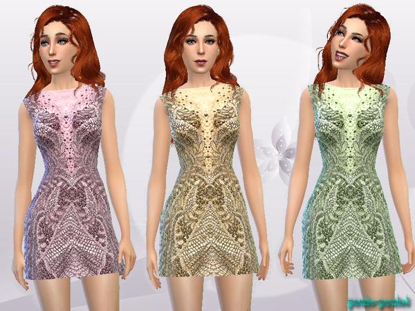 The Sims Resource: Sleeveless Short Dress by Paulo paulol