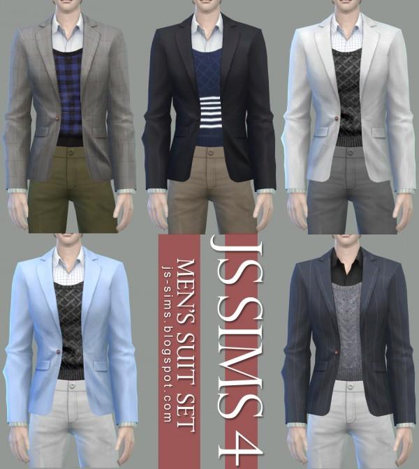 JS Sims 4: Mens Suit Set