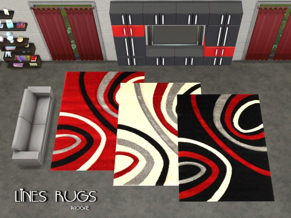 The Sims Resource: Lines Rugs by Paogae