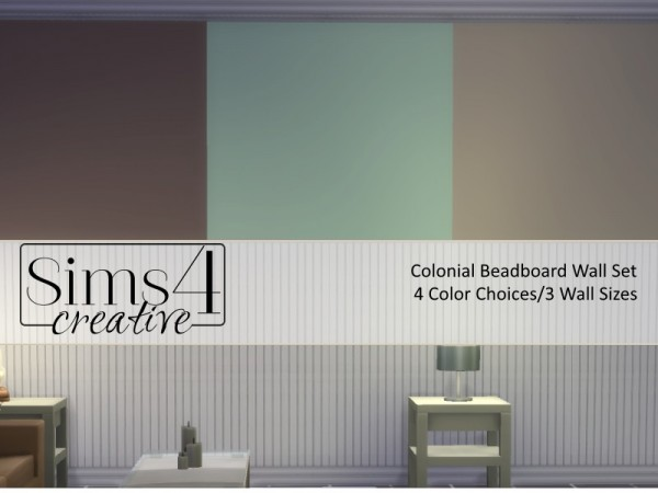 The Sims Resource: Colonial Beadboard by Sims 4 Creative