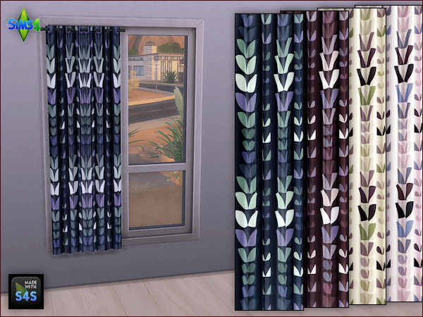 Arte Della Vita 4 Curtains In 4 Different Colors Sims 4