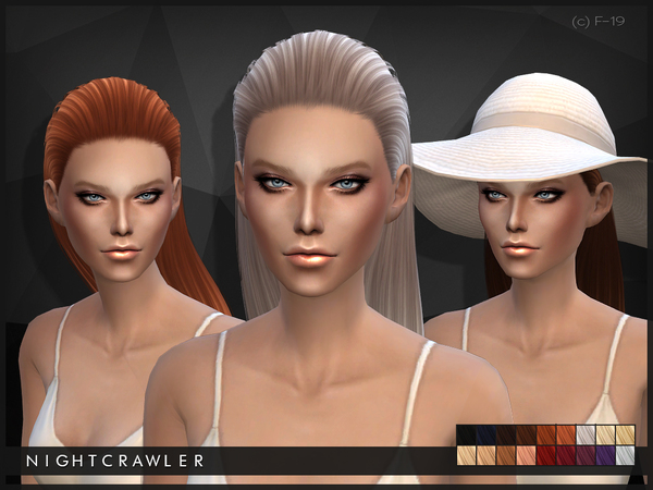 The Sims Resource: Hair 19 by Nightcrawler