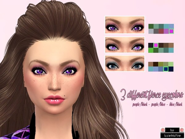 The Sims Resource: Fierce eyecolors set by IzzieMcFire