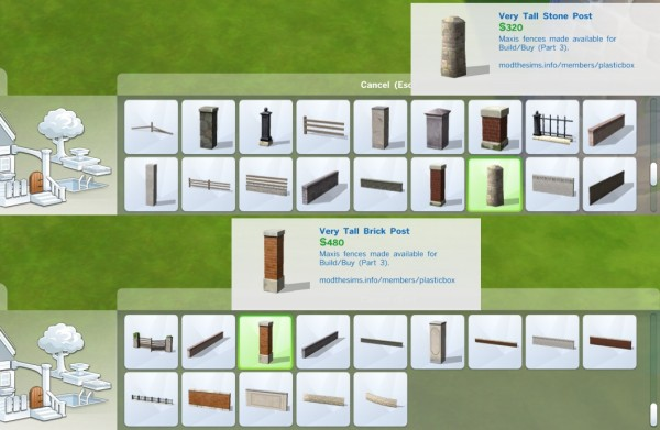 Mod The Sims Liberated Fences 3 By Plasticbox Sims 4
