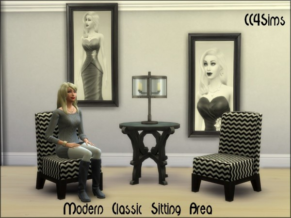 CC4Sims: Modern Classic siting area