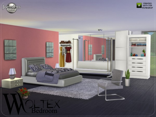 The sims resource woltex bedroom by jomsims sims 4 for Bedroom designs sims 4