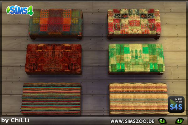 Blackys Sims 4 Zoo: Ottoman 1 by ChiLLi
