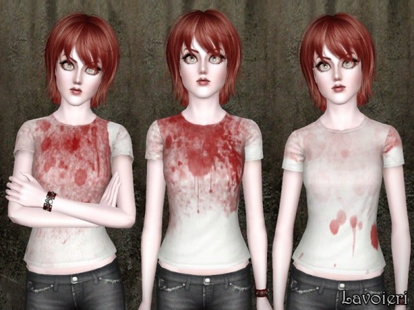 Lavoieri Sims Bloody T Shirts Sims 4 Downloads