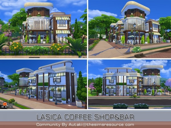 The Sims Resource Lasica Coffee Shop By Autaki Sims 4