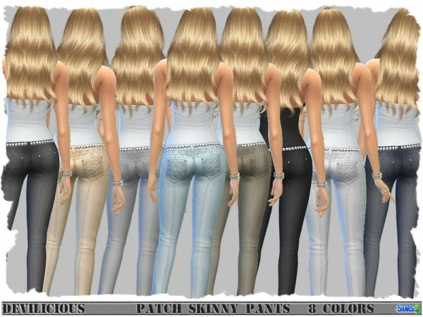 The Sims Resource: Patch Skinny Pants by Devilicious