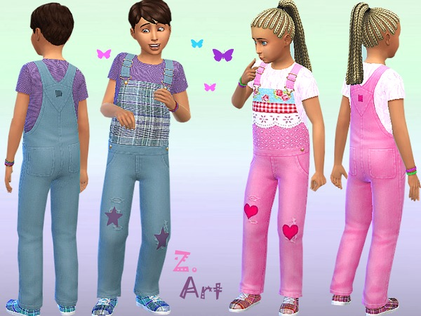 The Sims Resource: Universal Overall by Zuckerschnute20